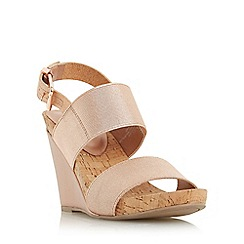 Dune - Rose 'Kailee' elasticated strap wedge sandal
