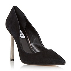 Dune - Black 'Bacardie' metal heel pointed toe court shoe