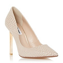 Dune - Gold 'Bacardie' metal heel pointed toe court shoe