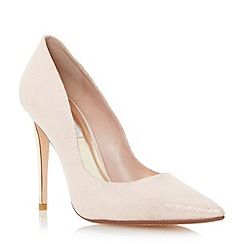 Dune - Metallic extreme pointed toe court shoe