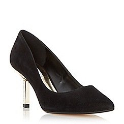 Dune - Black 'Beatrix' jewel mid heel court shoe