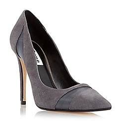 Dune - Grey 'Bardot' mesh detail high heel court shoe