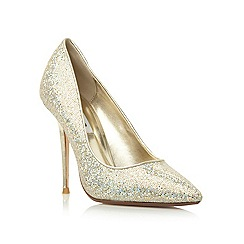 Dune - Metallic lurex high heel court shoe