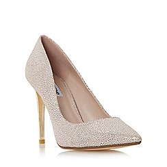 Dune - Light pink 'Betsee' sprayed heel pointed toe court shoe