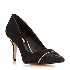 Dune - Black 'Bellina' contrast toecap detail court shoe