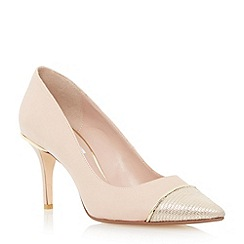 Dune - Neutral contrast toecap detail court shoe