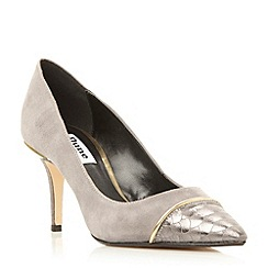 Dune - Grey contrast toecap detail court shoe