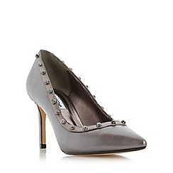 Dune - Silver 'Babylonn' studded pointed toe court shoe