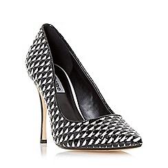 Dune - Multicoloured 'Brooklyne' patent weave detail court shoe