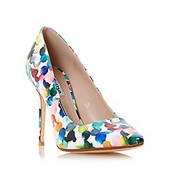 Dune - Multicoloured 'Blosome' multi coloured bubble print court shoe
