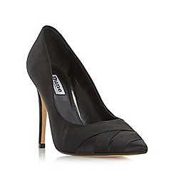 Dune - Black 'Archivve' satin pointed toe court shoe
