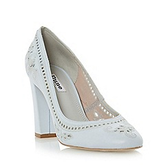 Dune - Light pink 'Bethanee' embroidered court shoe