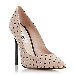 Dune - Grey pointed toe high heel court shoe