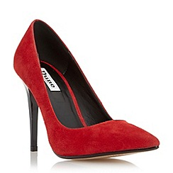 Dune - Red 'Azara' pointed toe high heel court shoe