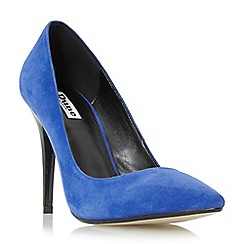 Dune - Blue 'Azara' pointed toe high heel court shoe
