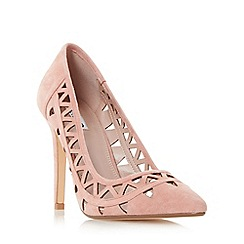 Dune - Pink 'Billey' pointed toe cut out detail court shoe