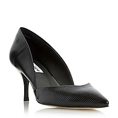 Dune - Black 'Amal' two part mid heel court shoe