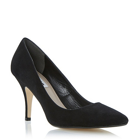 Dune - Black suede +Appoint+ pointed toe court shoe