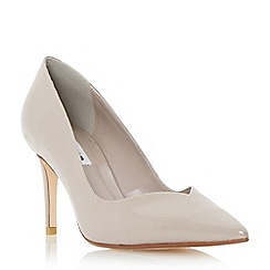 Dune - Neutral sweetheart cut mid heel court shoe