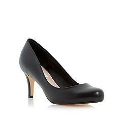 Dune - Black mid heel court shoe
