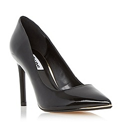 Dune - Black metal toe detail high heel court shoe