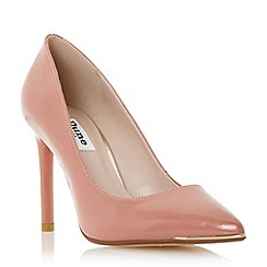 Dune - Neutral metal toe detail high heel court shoe