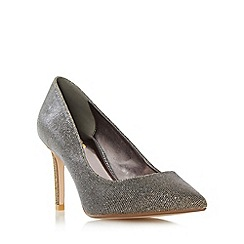 Dune - Gold 'W abbigail' wide fit pointed toe court shoe