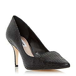 Dune - Black 'Amanda' pointed toe mid heel court shoe