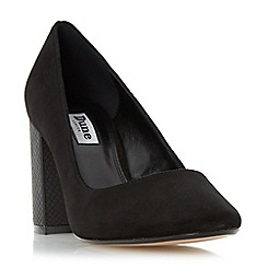 Dune - Black 'Acapela' round toe block heel court shoe