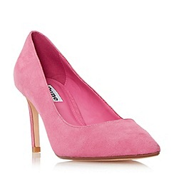 Dune - Pink 'Abbigail' pointed toe mid heel court shoe