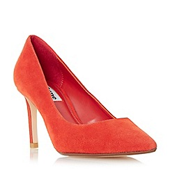 Dune - Orange 'Abbigail' pointed toe mid heel court shoe