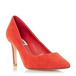 Dune - Orange 'Abbigail' pointed toe mid heel court shoe