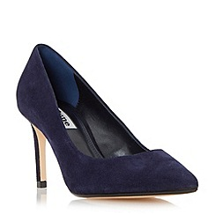 Dune - Navy 'Abbigail' pointed toe mid heel court shoe