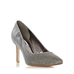 Dune - Grey 'Abbigail' pointed toe mid heel court shoe
