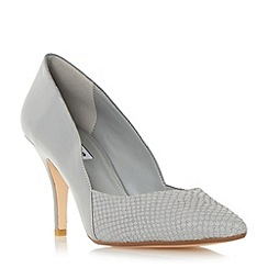 Dune - Grey 'Alyvia' mid heel sweetheart court shoe