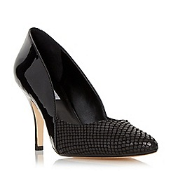 Dune - Black 'Alyvia' mid heel sweetheart court shoe