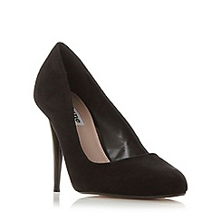 Dune - Black 'Angelica' almond toe court shoe