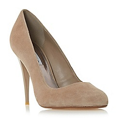 Dune - Mink Suede 'Angelica' almond toe court shoe