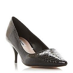 Dune - Black 'Allera' pointed toe mid heel court shoe