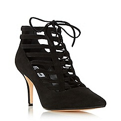 Dune - Black 'Amma' strappy ghillie lace court shoe