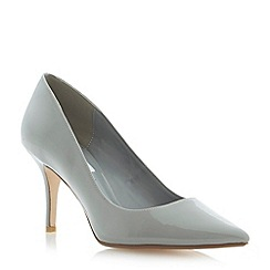 Dune - Grey pointed toe mid heel court shoe