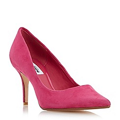 Dune - Dark pink 'Alina' pointed toe mid heel court shoe