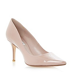 Dune - Nude pointed toe mid heel court shoe