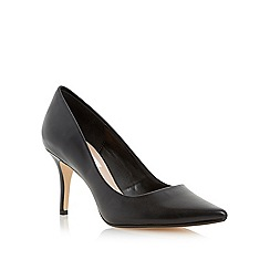 Dune - Black pointed toe mid heel court shoe