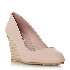 Dune - Light pink 'Anisa' stacked wedge court shoe