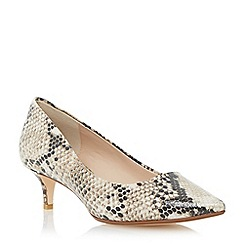 Dune - Neutral pointed toe kitten heel court shoe