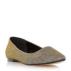 Dune - Metallic pointed toe dressy flat