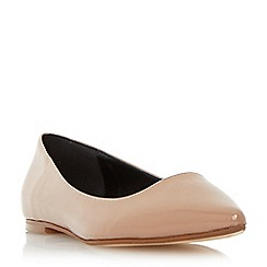 Dune - Neutral pointed toe dressy flat