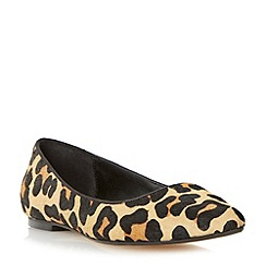 Dune - Leopard pointed toe dressy flat