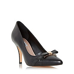 Dune - Black 'Anora' bow trim pointed toe court shoe